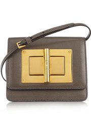 Natalia mini textured-leather shoulder bag