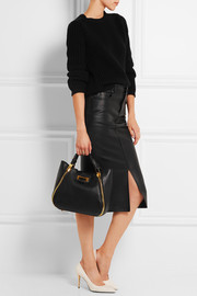 Sedgwick small textured-leather tote