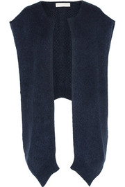 Stella McCartney Ribbed-knit poncho