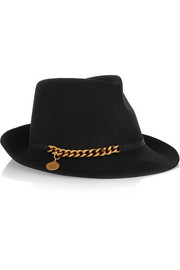 Stella McCartney Chain-embellished wool-felt trilby