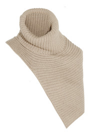 Ribbed-knit wool scarf