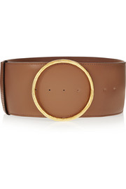 Faux leather waist belt