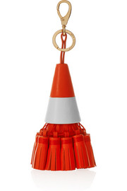 Anya Hindmarch Traffic Cone tasseled leather keychain