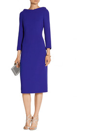 Wool-crepe midi dress