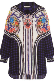 Croft printed silk-chiffon mini dress