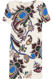 Cameron printed silk dress