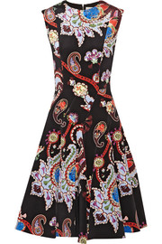 Masson printed silk-satin dress