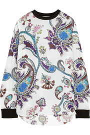 Guyn printed silk-chiffon top