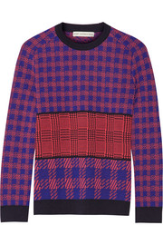 Mackie houndstooth-intarsia wool sweater