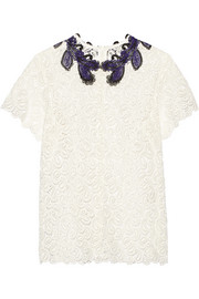 Birk guipure lace top