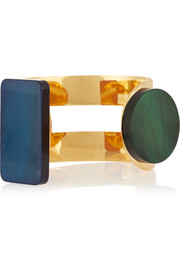 Gold-plated horn cuff