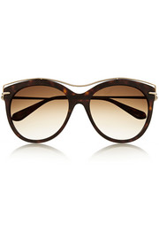Alexander McQueen Cat-eye acetate and metal sunglasses