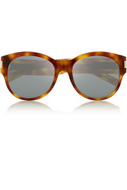Saint Laurent Oversized round-frame acetate sunglasses