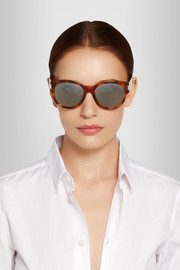 Oversized round-frame acetate sunglasses