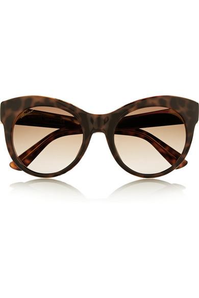 add81d92e2ad9 Gucci. Cat-eye acetate and metal sunglasses