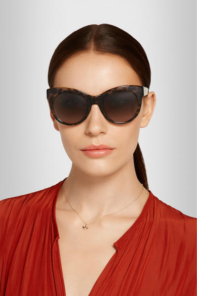76be99d3b261 Gucci | Cat-eye acetate and metal sunglasses | NET-A-PORTER.COM