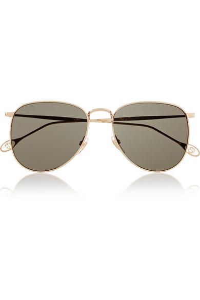 d7e7e660b Gucci | Aviator-style metal sunglasses | NET-A-PORTER.COM