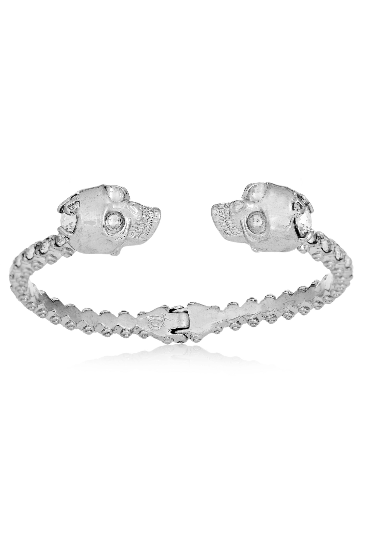 Alexander McQueen Silver-tone Swarovski crystal cuff