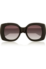Square-frame acetate and rubber sunglasses