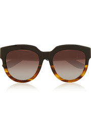 D-frame acetate and rubber sunglasses