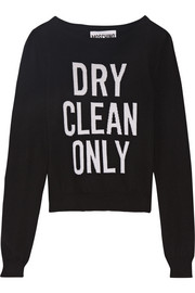 Dry Clean Only intarsia wool sweater
