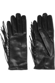 Valentino Fringed leather gloves