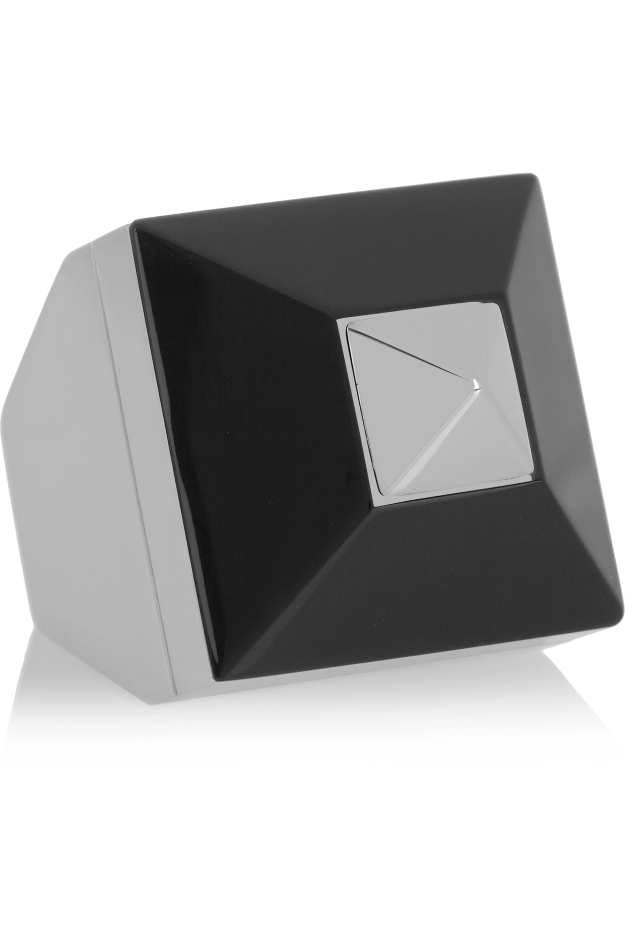 Givenchy Ring in silver-tone and Plexiglas®
