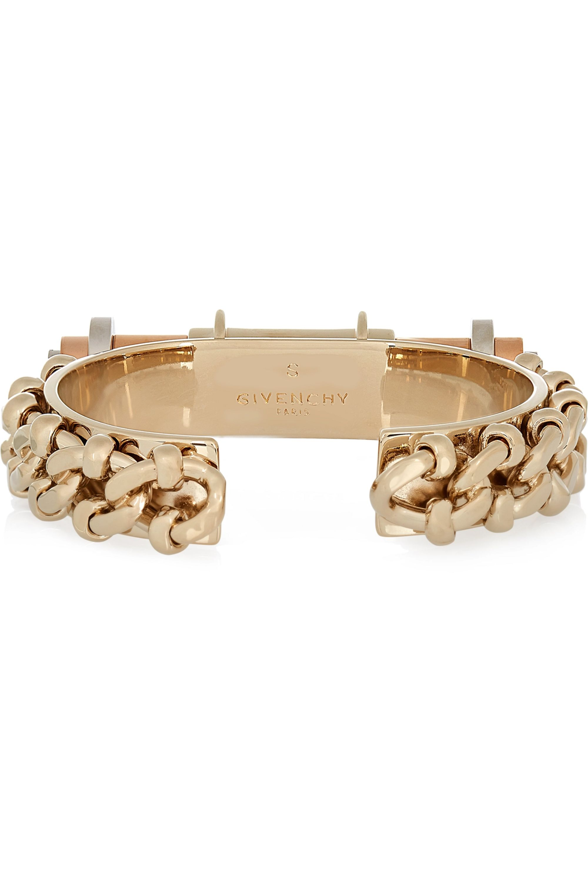 Givenchy Obsedia cuff in gold, rose-gold and silver-tone