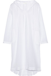 Hooded cotton-gauze nightdress