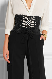 Lace-up faille belt