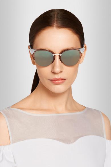 78a00dce306 Fendi. Crystal-embellished cat eye Optyl™ sunglasses