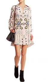 Peter Pilotto Ace printed silk-crepe mini dress