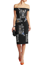 Peter Pilotto Arcade embellished wool and crepe dress