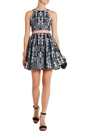 Peter Pilotto Circle printed cloqué mini dress