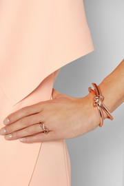 Knotted rose gold-tone cuff
