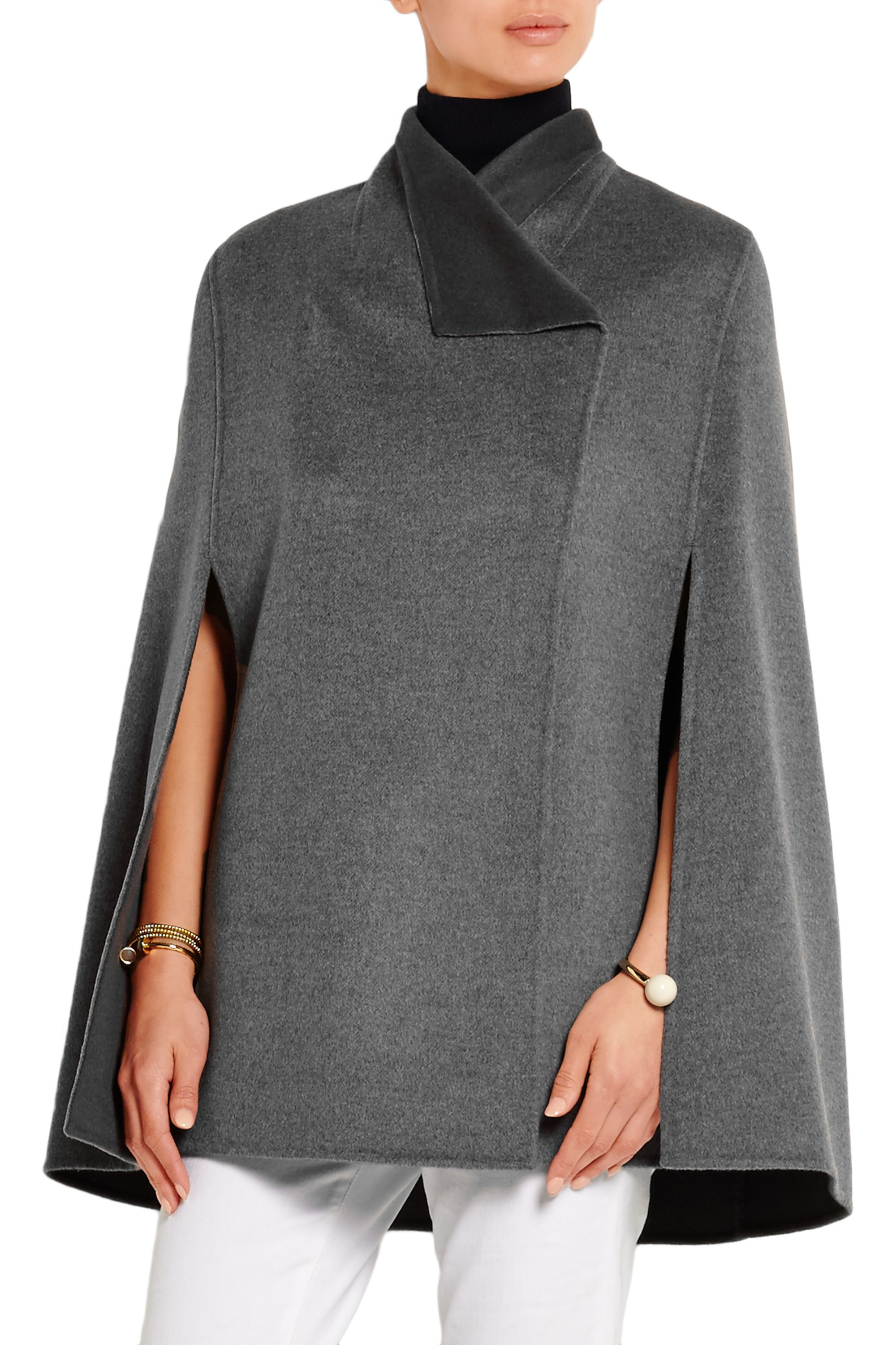 Joseph Lina brushed wool and cashmere-blend cape