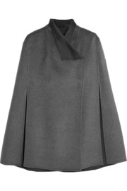 Lina brushed wool and cashmere-blend cape