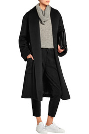 Page belted wool and cashmere-blend coat