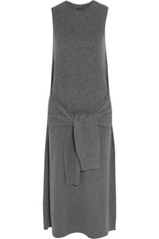 Elle tie-front wool dress
