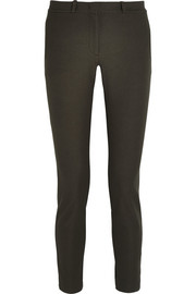 Eliston cropped stretch-gabardine straight-leg pants
