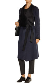 Live Long two-tone wool and cashmere-blend coat