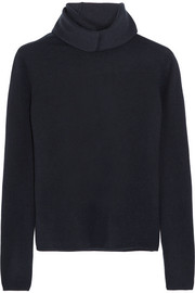 Stretch cashmere-blend turtleneck sweater