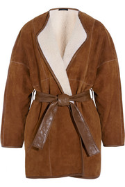 Maud belted shearling coat