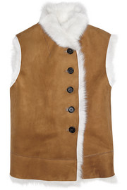 Lucy shearling vest