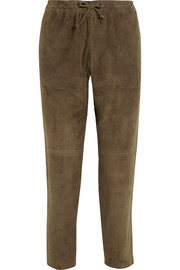 Lou Lou suede tapered pants