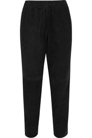 Joseph Lou Lou cropped suede tapered pants