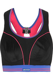 Ultimate Run mesh and stretch-jersey sports bra