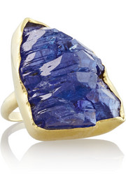 18-karat gold tanzanite ring