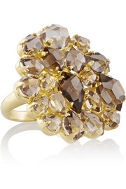 18-karat gold quartz ring