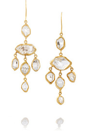 18-karat gold Herkimer diamond earrings